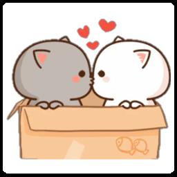 Mochi Peach Cat Sticker for WAStickerApps