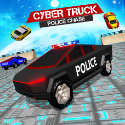 US Police CyberTruck Chase: Police Chase Games