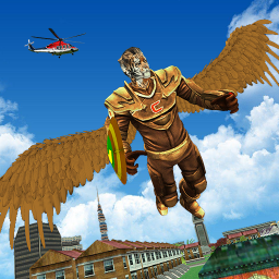 Flying Lion Rope Hero Animal Rescue Game