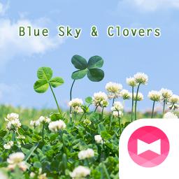 Cute Wallpaper Blue Sky & Clovers Theme