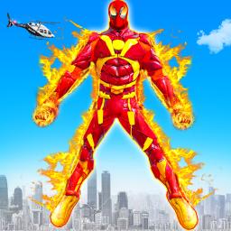 Flying Fire Hero Robot Transform: Robot Games