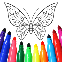 Girls games: Painting and coloring