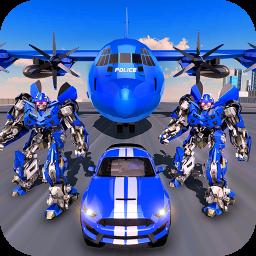 US Police Robot Transform - Police Plane Transport