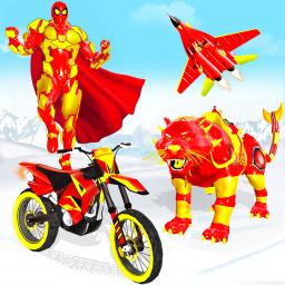 Snow Mountain Leopard Moto Bike Robot Bike Games