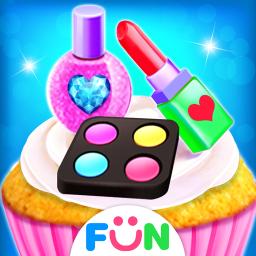 Makeup Kit Cupcake Games -  Tasty Cupcakes Maker
