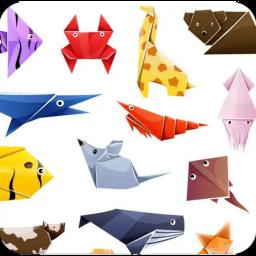 اوریگامی ساده سه بعدی حیوانات گل