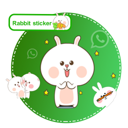 استیکر واتساپ-خرگوش گوگولی😍