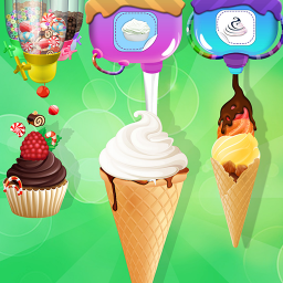 Ice Cream Cone Maker Factory: Ice Candy Games