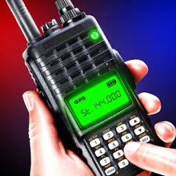 Walkie talkie police radio