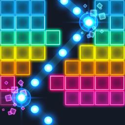 Brick Breaker: Neon-filled hip hop! Monster ball