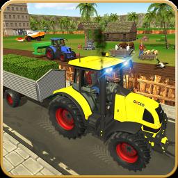 Virtual Farmer Tractor: Modern Farm Animals Game