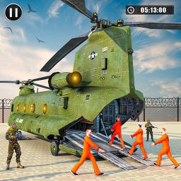Army Prisoner Transport: Truck & Plane Crime Games
