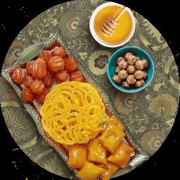 شیرینی و دسر ماه رمضان + زولبیا و بامیه