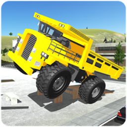 Offroad Construction Truck Driving