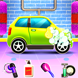 Kids Car Wash Cleaning Service Station