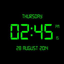 LED Digital Clock Live Wallpaper