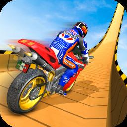 Superhero GT Bike Stunt Racing: Mega ramps games