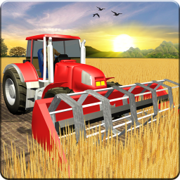 Tractor Farming & Tractor Trolley Cargo Driver 3D