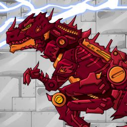 Fire Tyrannosaurus - Dino Robot : Dinosaur Game