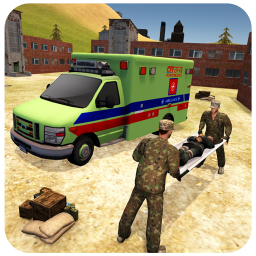 US Army Ambulance Driving Rescue Team Transporter