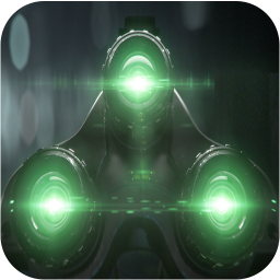 Night Vision Camera Filter Effect Simulated