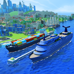 Sea Port: Travel, Build Town & Manage Ship Tycoon