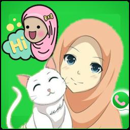 Hijab Girl Stickers for WhatsApp 2019 free Sticker