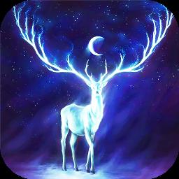 Night Bringer : Magic glowing deer live wallpaper