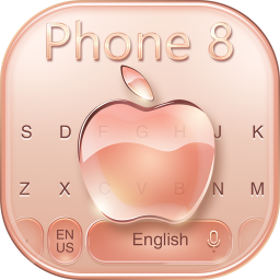 Keyboard for Phone 8 Gold