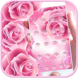 Pink Rose Launcher Theme