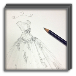 Drawing Dress Gown