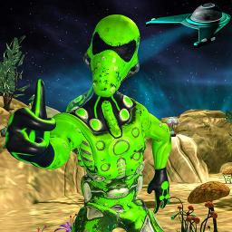 Area 51 Green Grandpa Alien game escape