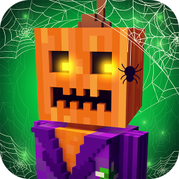 Scary Theme Park Craft: Spooky Horror Zombie Games