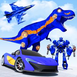 Flying Dino Robot Car Games