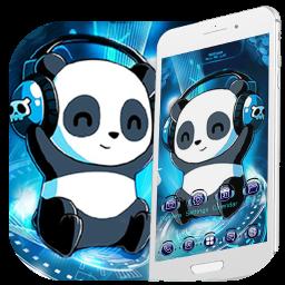Music Tech Panda Launcher Theme Live HD Wallpapers