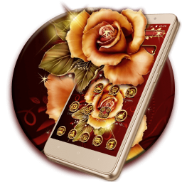 Golden Red Luxury Rose Theme