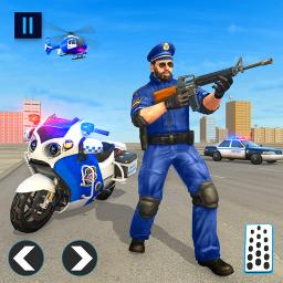 US Police Bike 2020 - Gangster Chase Simulator