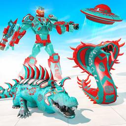 Anaconda Robot Transform Wars Spaceship Robot Game