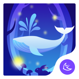 Rabbit at night theme for Android free