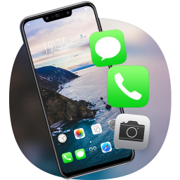 Nature Sea cliff view theme for Jio phone 3