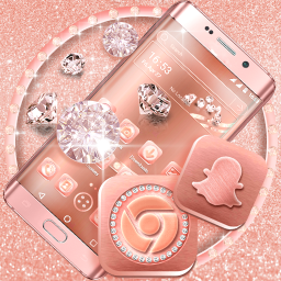 Rose Gold Launcher Theme