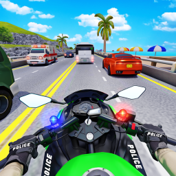 Police Moto Bike Highway Rider Traffic Racing Game