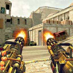 Gun Game Simulator: Machine Gun Shoot War Strike