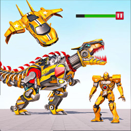 Flying Taxi Robot Car Games