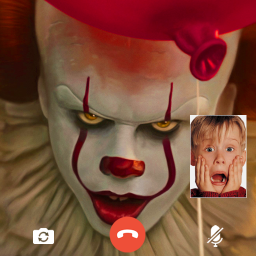 scary clown fake video call