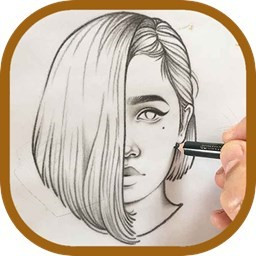 طراحی و نقاشی چهره با مداد