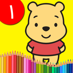 کتاب رنگآمیزی - پو خرس عسلی ۱