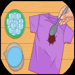 پاک کردن کثیفی از روی لباس