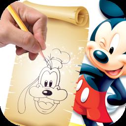 آموزش نقاشی کارتون های والت دیزنی