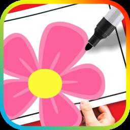 آموزش نقاشی و کاردستی گل به کودکان
